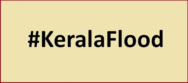 "This illustration is a graphic that simply says ""#KeralaFlood"". The graphic symbolizes the theme of the article, which is essentially an appeal to the readers to donate resources for the relief work being carried out in Kerala after the havoc caused by recent massive floods in the state. The graphic text is in black colour on a light yellow background."